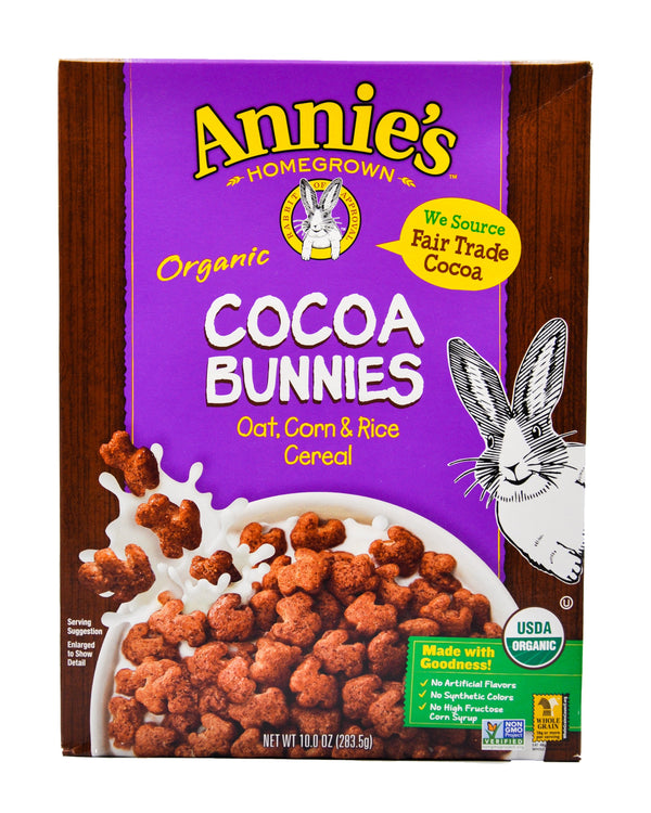 Annie's Organic Cocoa Bunnies Cereal (283g) - Organics.ph