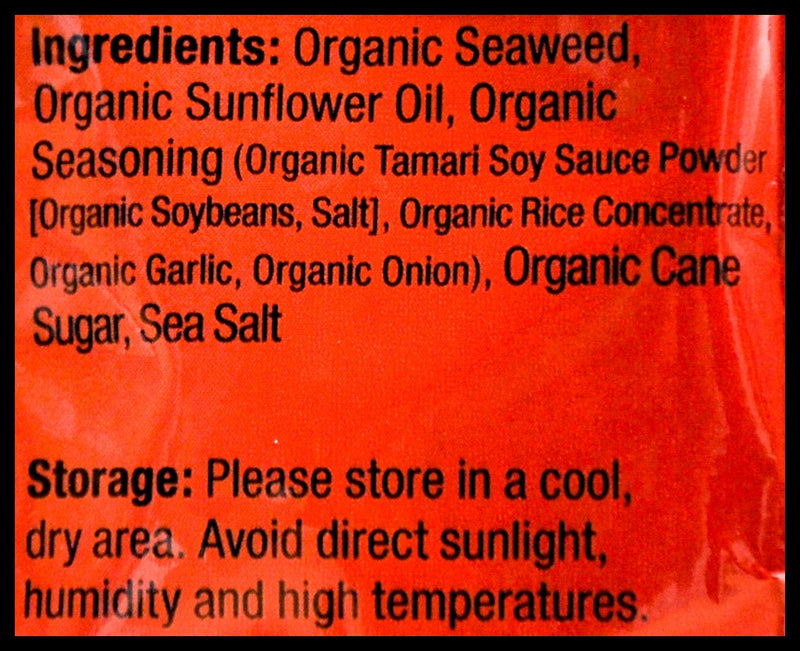 C-Weed Organic Roasted Seaweed Snack - Bulgogi (4g x 16 packs) - Organics.ph