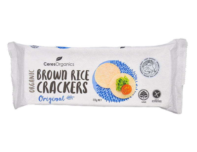 Ceres Organics Brown Rice Crackers - Original (115g) Original - Organics.ph