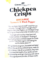 Ceres Organics Chickpea Crisps - Turmeric & Black Pepper (100g) - Organics.ph