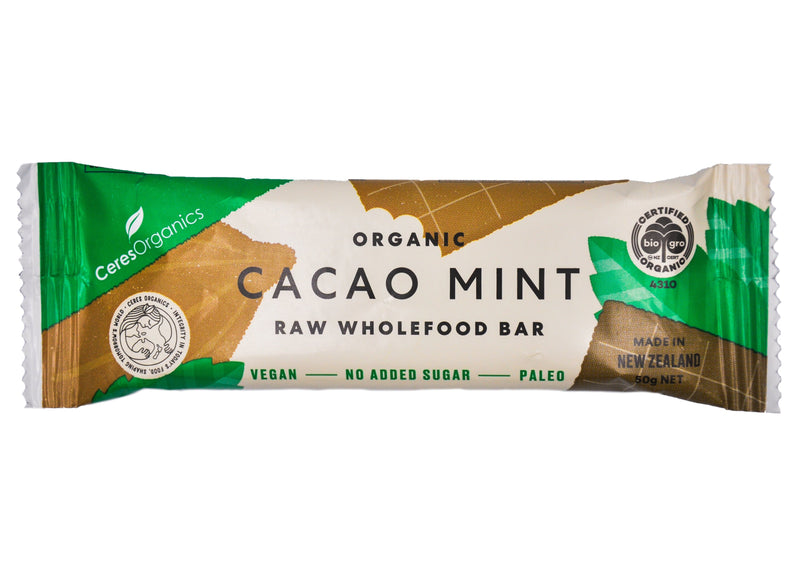 Ceres Organics Raw Wholefood Bar - Cacao Mint (50g) Cacao Mint - Organics.ph