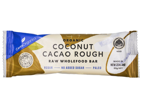 Ceres Organics Raw Wholefood Bar - Coconut Cacao Rough (50g) Coconut Cacao Rough - Organics.ph