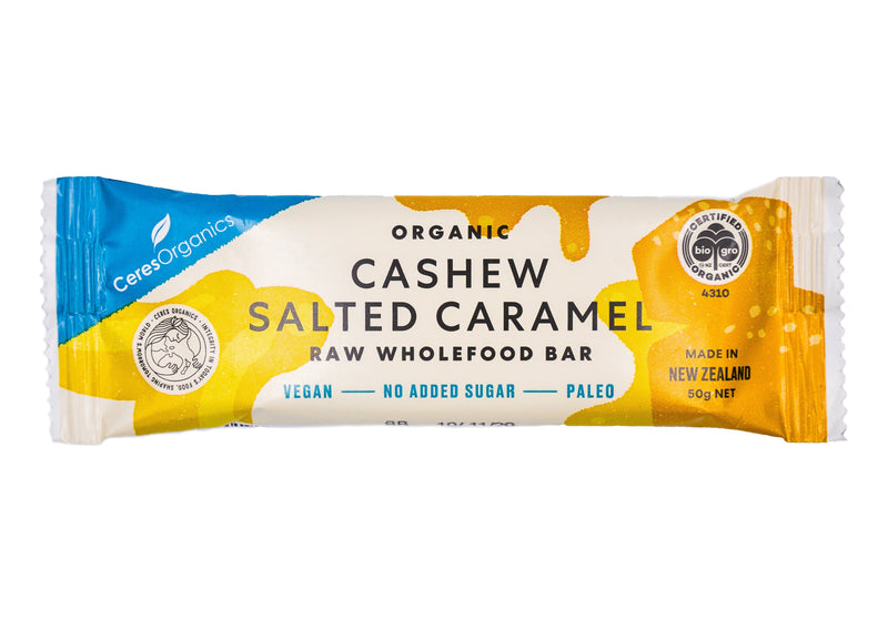 Ceres Organics Raw Wholefood Bar - Salted Caramel (50g) Salted Caramel - Organics.ph