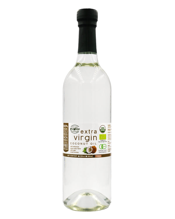 CocoWonder Organic Extra Virgin Coconut Oil - Glass Bottle (750ml) - Organics.ph