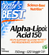 Doctor's Best Alpha Lipoic Acid 150mg (120 Caps) - Organics.ph