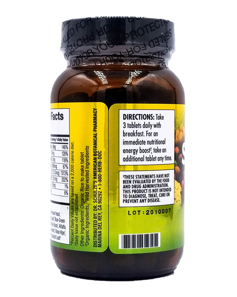 Dr. Schulze's Organic Superfood 100 Vitamin & Mineral Herbal Concentrate (90 tablets) - Organics.ph