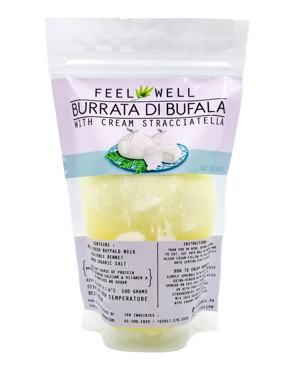 Feel Well Burrata (100g x 4) - Pre Order (1 week delivery) - Organics.ph