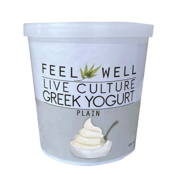 Feel Well Live Culture Greek Yogurt Plain (400ml) - Pre Order (1 week delivery) - Organics.ph