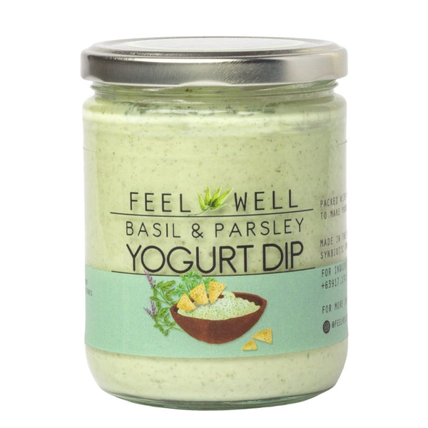 Feel Well Yogurt Dip - Basil and Parsley (400ml) - Pre Order (1 week delivery) - Organics.ph