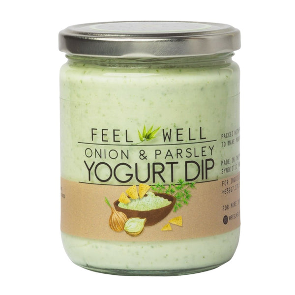 Feel Well Yogurt Dip - Onion and Parsley (400ml) - Pre Order (1 week delivery) - Organics.ph