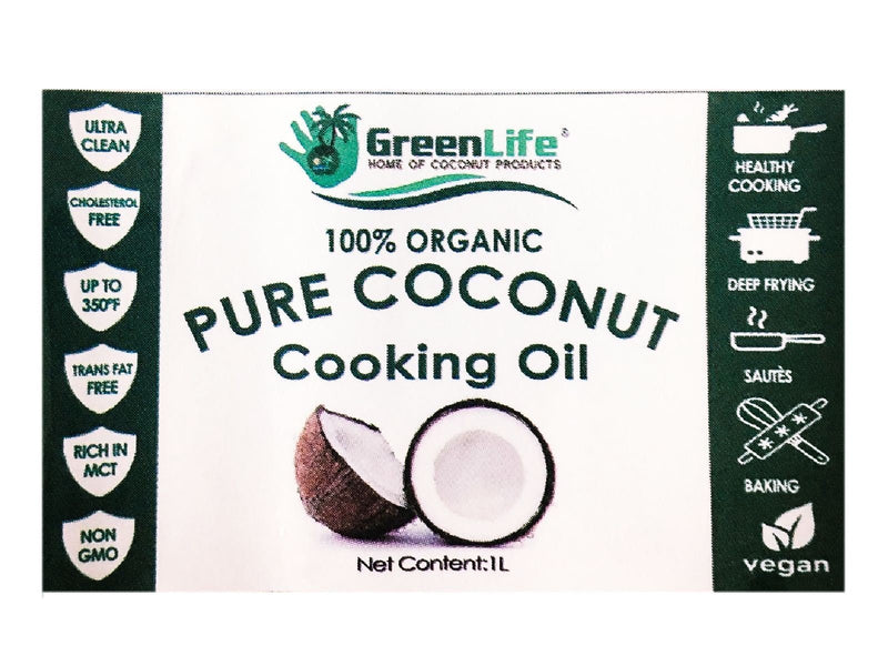 Greenlife Organic Culinary Coconut Oil (1 Liter) - Organics.ph