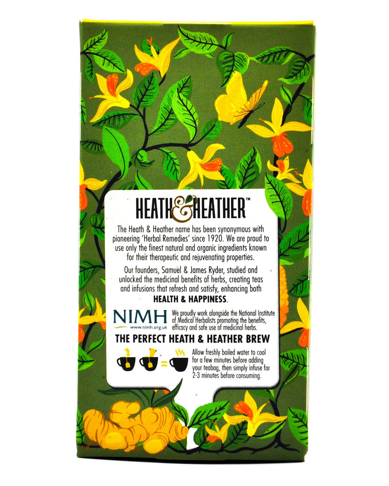 Heath and Heather Organic Green Tea - Ginger (20 tea bags) - Organics.ph