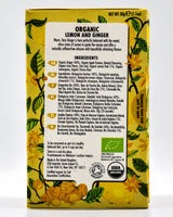 Heath and Heather Organic Tea - Lemon & Ginger (20 tea bags) - Organics.ph