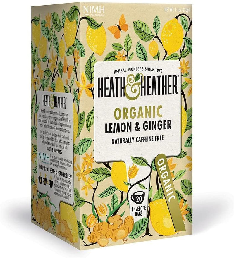 Heath and Heather Organic Tea - Lemon & Ginger (20 tea bags) Lemon & Ginger - Organics.ph