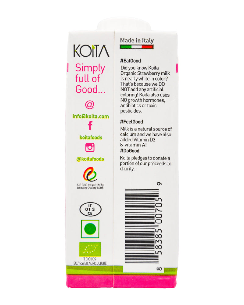 Koita Organic Milk - Strawberry (200ml) - Organics.ph