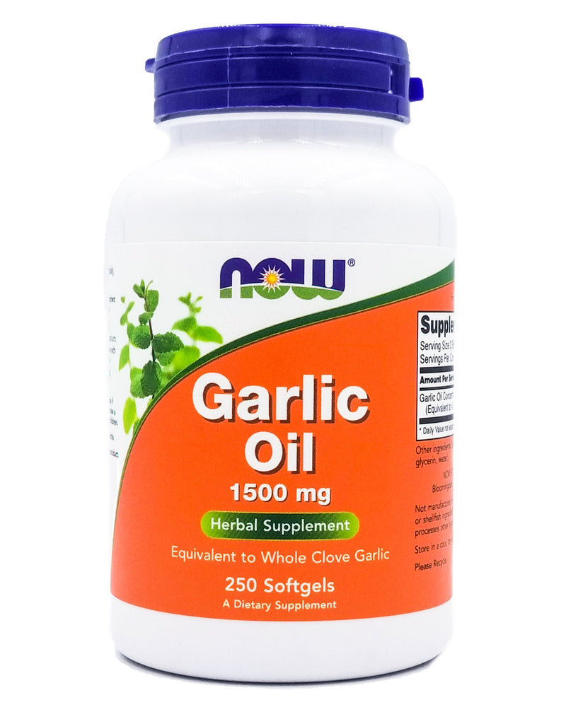 Now Garlic Oil 1500 mg (250 softgels) - Organics.ph