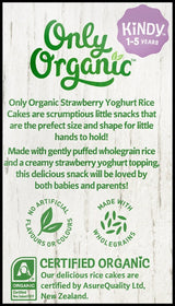 Only Organic Baby Snacks Kindy 1-5 years - Strawberry Yogurt Rice Cakes (30g) - Organics.ph