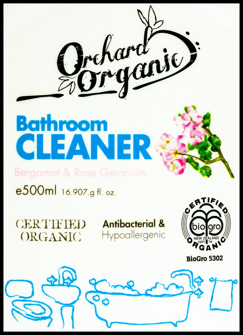 Orchard Organic Bathroom Cleaner - Bergamot & Rose Geranium (500ml) - Organics.ph