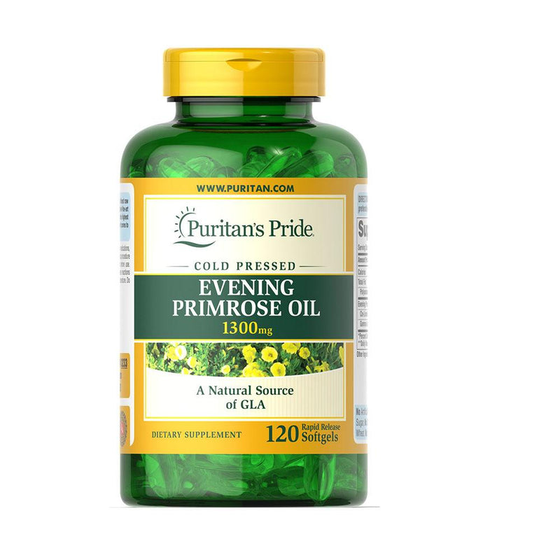 Puritan's Pride Evening Primrose Oil 1300mg (120 softgels) - Organics.ph