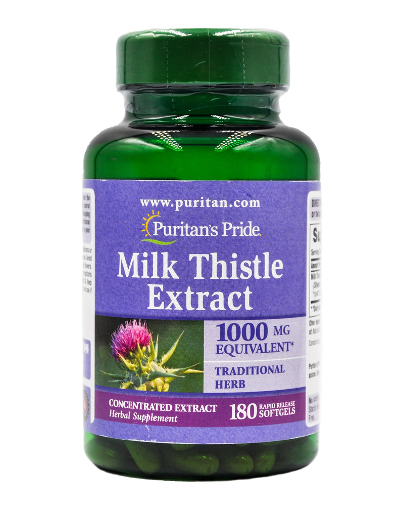 Puritan's Pride Milk Thistle 1000mg 180softgels - Organics.ph