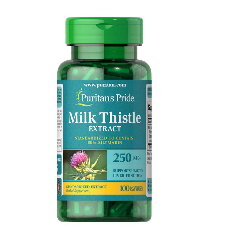 Puritan's Pride Milk Thistle 250mg 100caps - Organics.ph