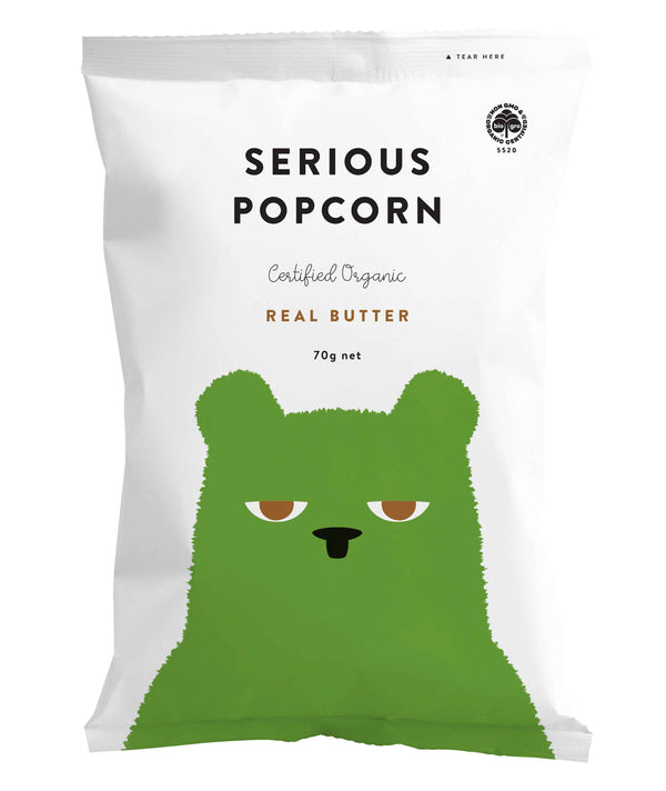 Serious Organic Popcorn - Real Butter (70g) - Organics.ph