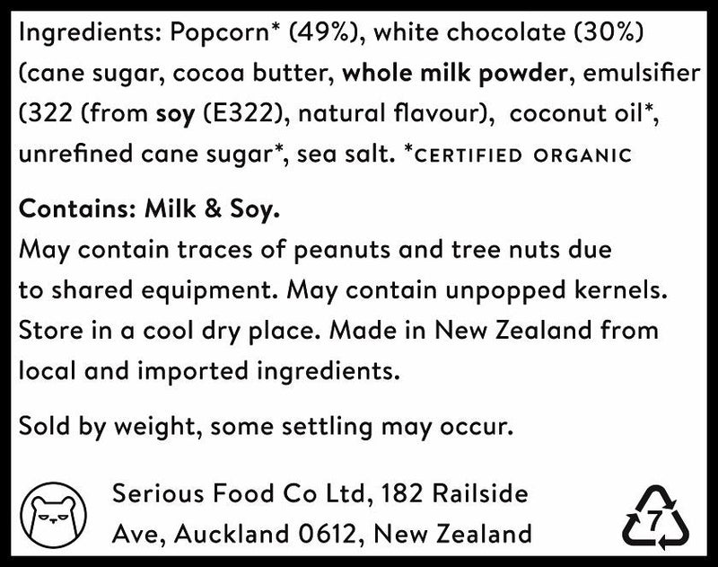 Serious Popcorn - White Chocolate (100g) - Organics.ph