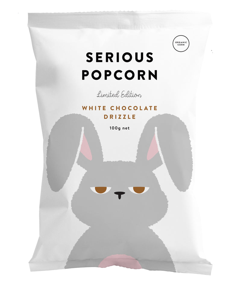 Serious Popcorn - White Chocolate (100g) White Chocolate Drizzle (100g) - Organics.ph