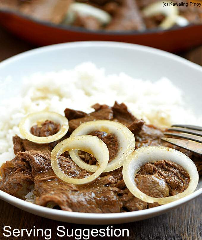 Sourced Beef Bistek Tagalog - Ready to Cook (200g) - Organics.ph