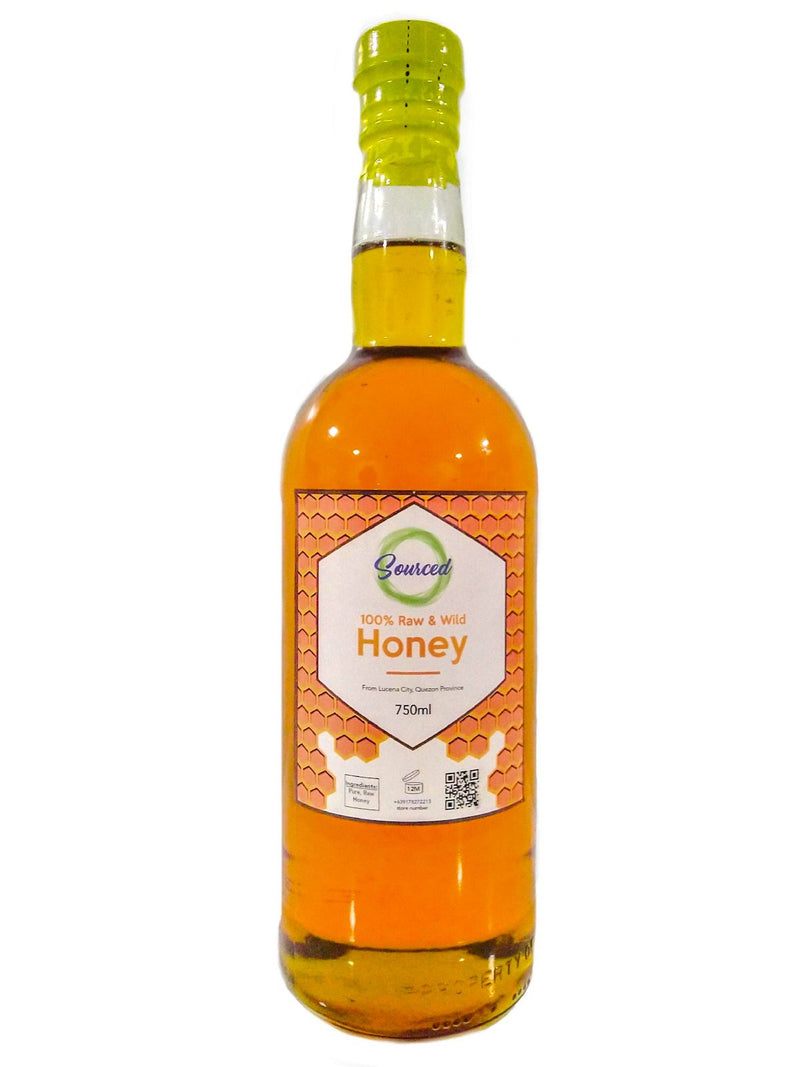Sourced Honey - 100% Raw and Wild 750ml - Organics.ph