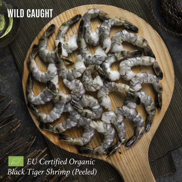 Wildcaught Organic Black Tiger Shrimp - Peeled (400g) - Organics.ph