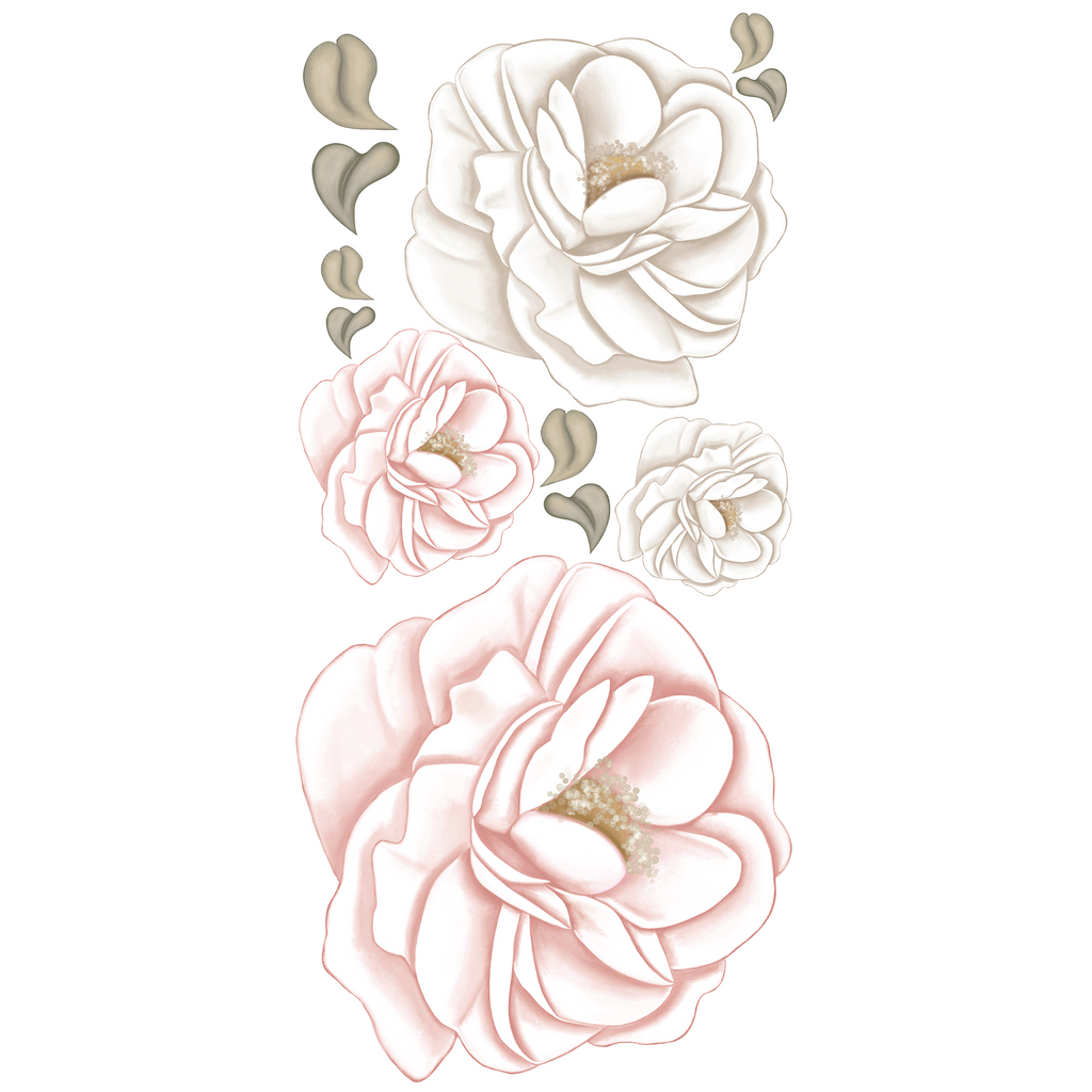 Pivoine – Peony Wall Decals