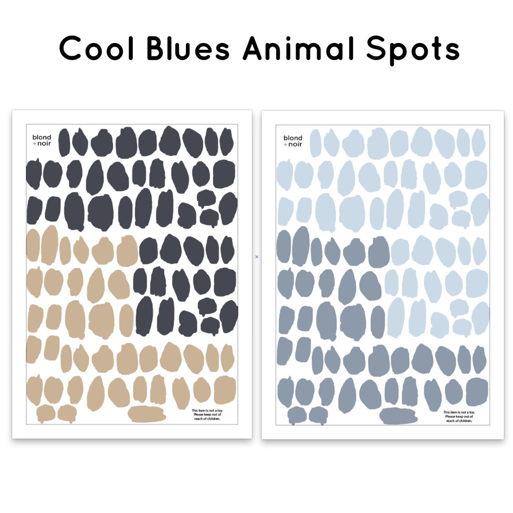 Cool Blues Animal Spots