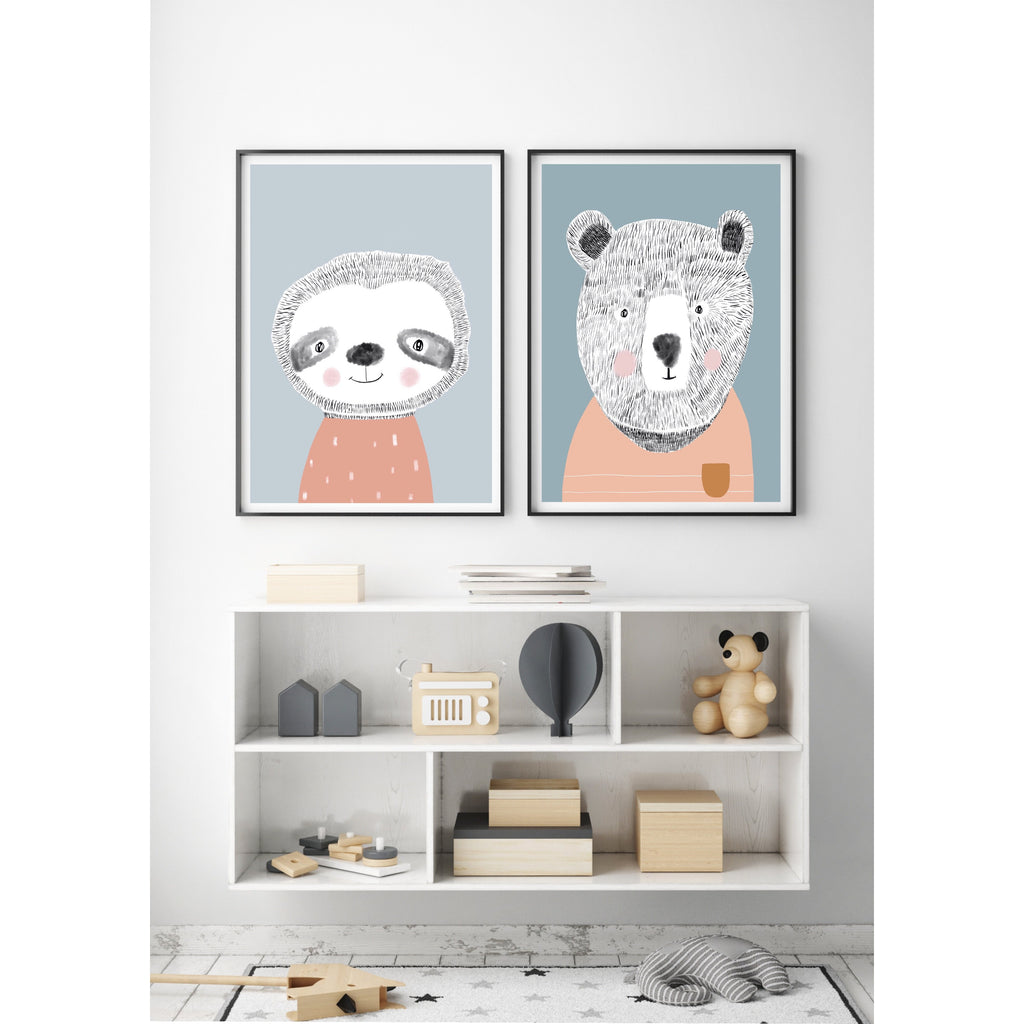 Teddy the Bear - pastel colourway
