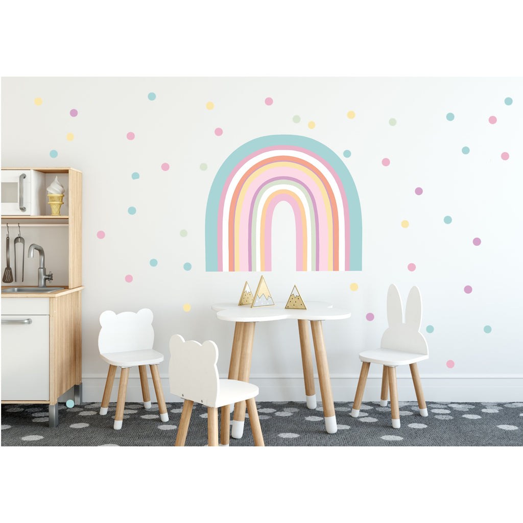 NEW Rainbow Arch Wall Decals - LARGE SIZE + BONUS CIRCLES