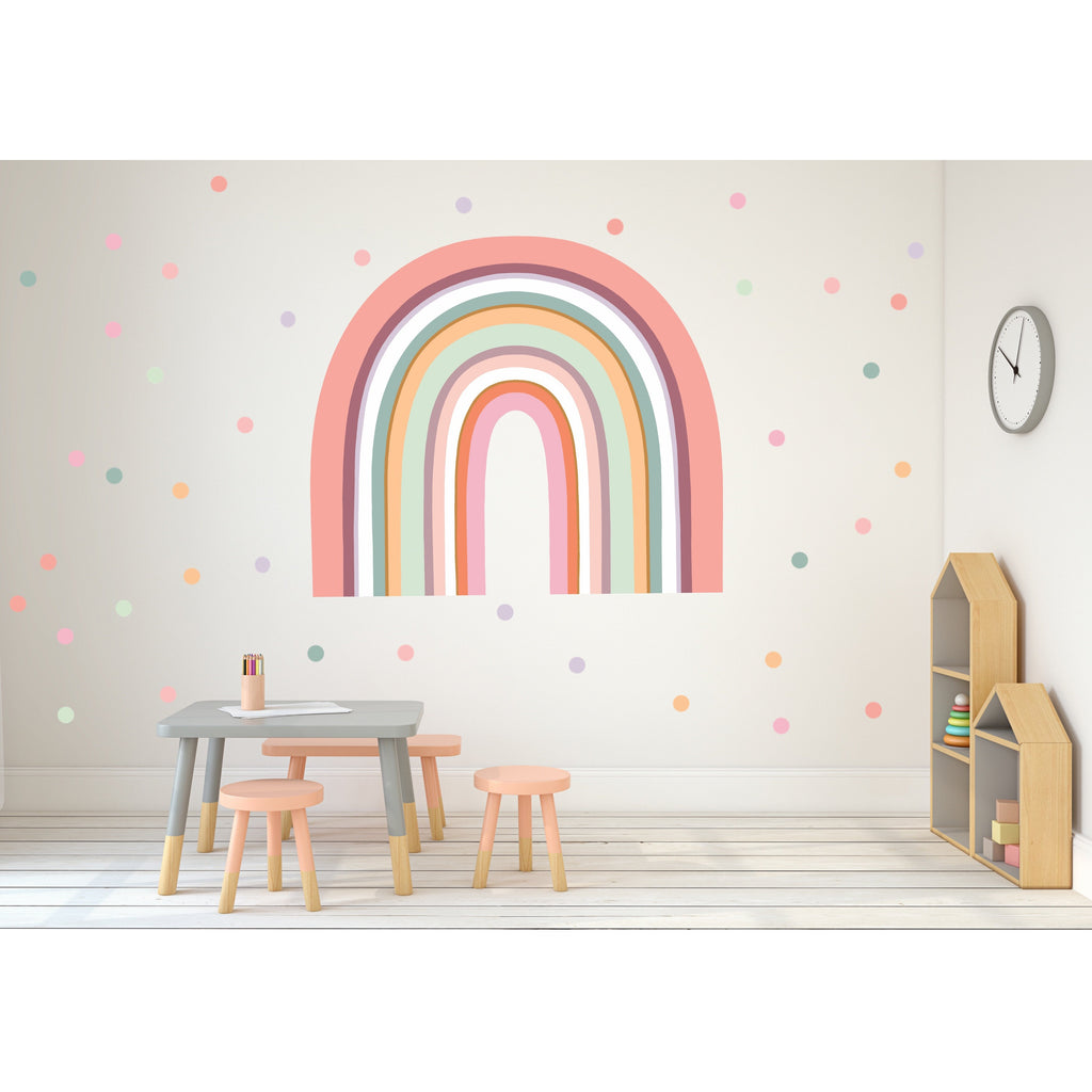 NEW Rainbow Arch Wall Decals - MAXI SIZE + BONUS CIRCLES