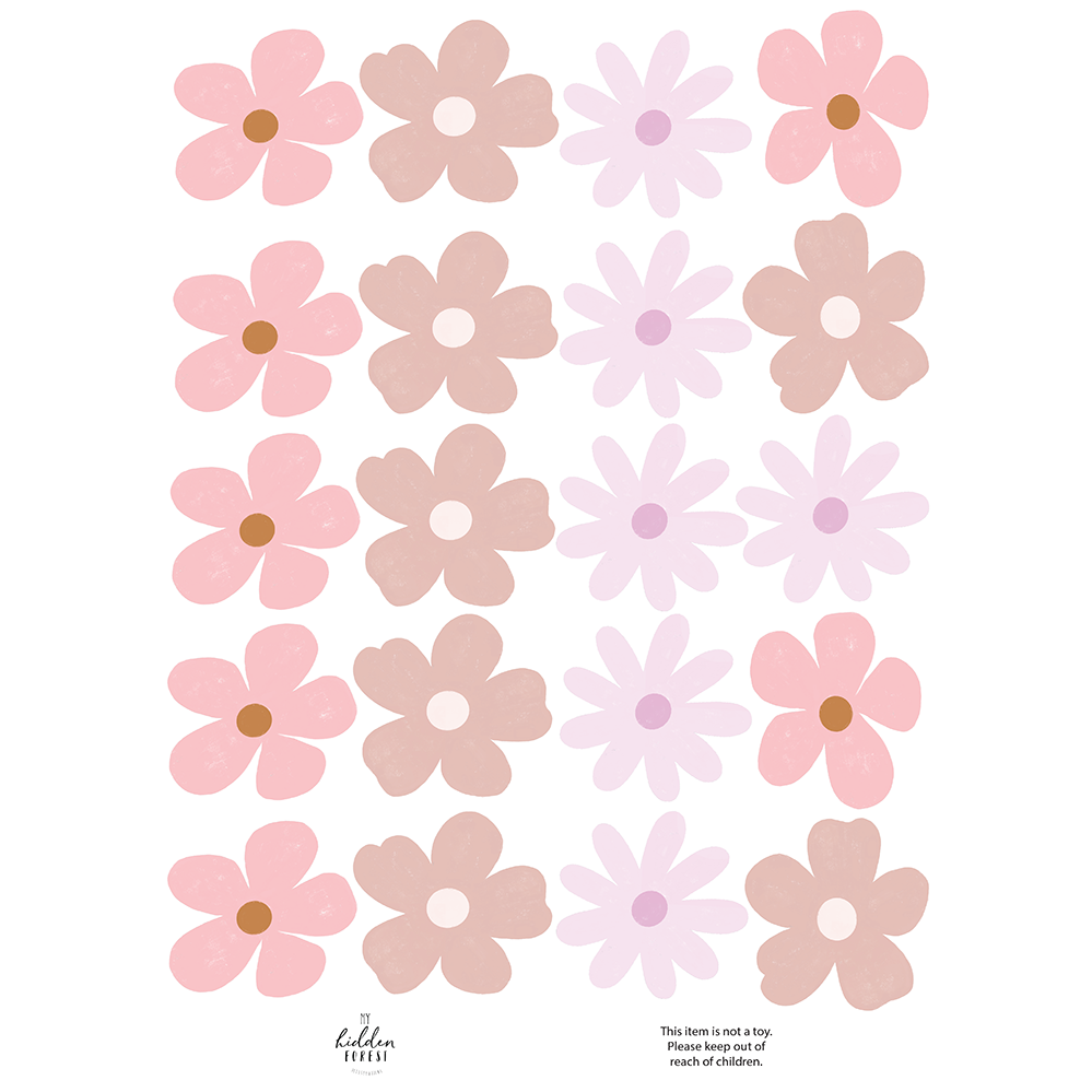 Wildflower wall decals - soft and pretty