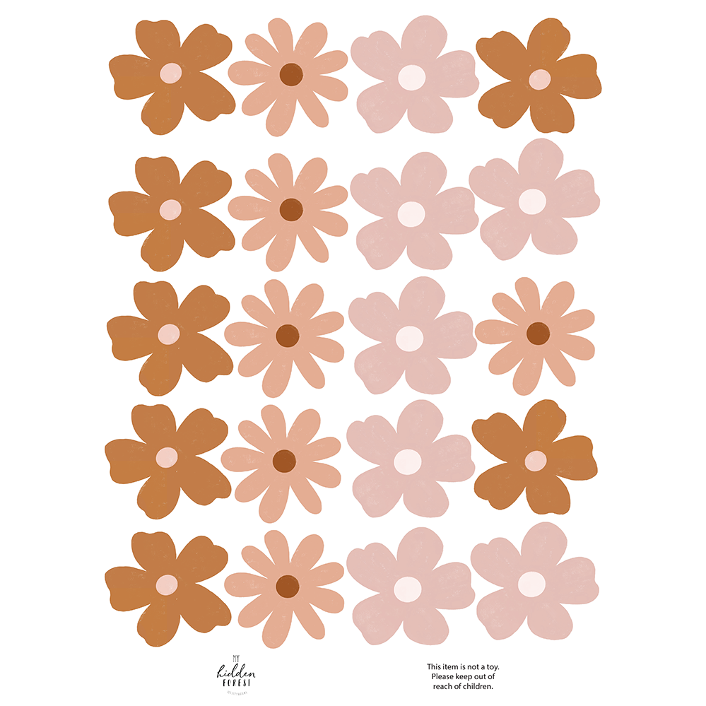 Wildflower wall decals - earthy vibes