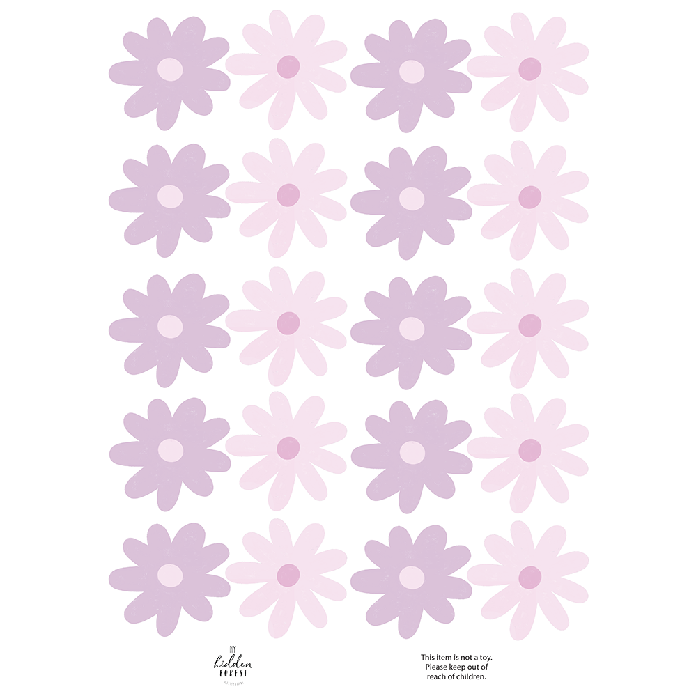 Wildflower wall decals - the lilacs