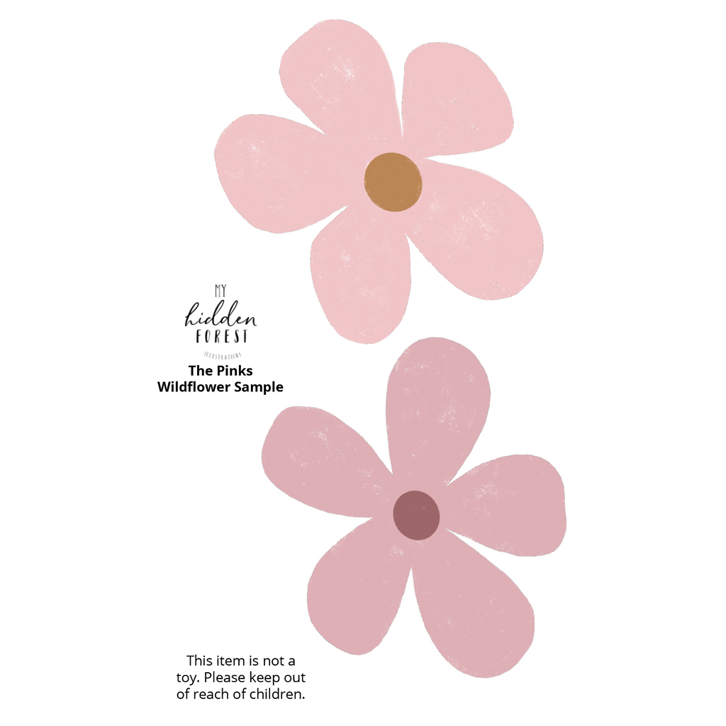 Wildflower wall decals - the pinks