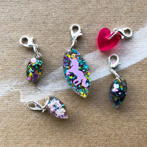 Unicorn Resin Stitch Marker Set