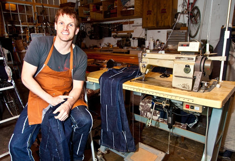 Sonas Denim founder and designer, Gerry Kelly, says his patched denim jeans are inspired by the free spirit of festival fashion.