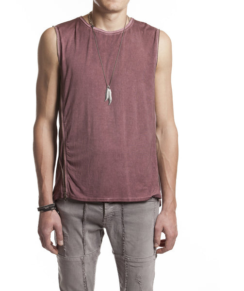 Side Zipper Unisex Tank