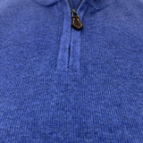 ALAN PAINE Cotton/Cashmere Quarter Zip