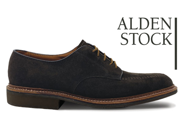 ALDEN 704 Chocolate Suede Mocc Toe Blucher