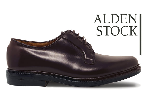 ALDEN 990 Color 8 Shell Cordovan Plain Toe Blucher