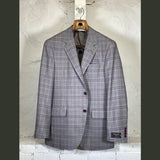 COPPLEY Grey with Purple Plaid Sport Coat