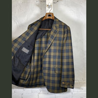 COPPLEY Olive Multi-Color Plaid Sport Coat