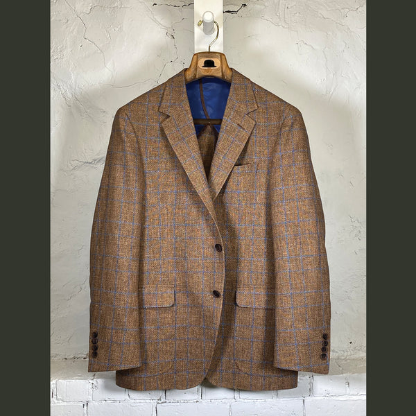COPPLEY Tan/Blue Windowpane Sport Coat