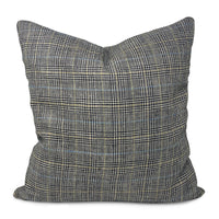 DW Large Blue Plaid / Glen Plaid Pillow